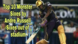Andrew Russell top 10 biggest sixes in all time 😱