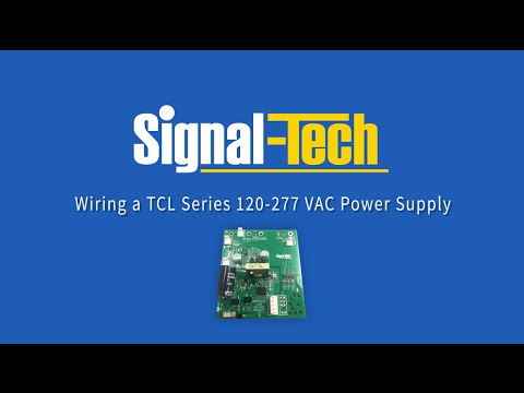 Wiring A TCL Series 120-277 VAC Power Supply