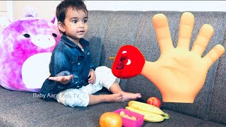 Fruits finger family song | Best fruits Name and color learning video for kids and babies & toddlers