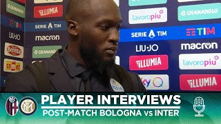 BOLOGNA 1-2 INTER   LUKAKU + LAZARO + HANDANOVIC EXCLUSIVE INTERVIEWS [SUB ENG]