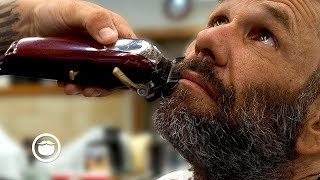 Homeless Gentleman's Amazing Barbershop Transformation (Spread the Love)   South Austin Barbershop