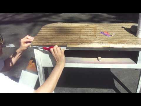 How To Decoupage Furniture A Table Youtube