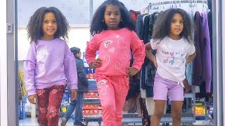 TRIPLETS SPEND $20 for ENTIRE OUTFIT! WALMART CHALLENGE