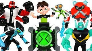Huge dinosaurs are harassing PJ Masks! Ben 10! Alien transformation! - DuDuPopTOY