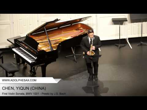 Dinant 2014 - CHEN, YIQUN (First Violin Sonata, BWV 1001 - Presto by J.S. Bach)