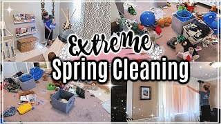 🌸EXTREME SPRING CLEAN WITH ME 2019 | MAJOR CLEANING MOTIVATION | CLEANING MY HOUSE