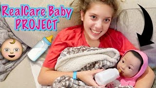 RealCare BABY PROJECT: MADELYNE SPENDS 24 HRS WITH BABY!