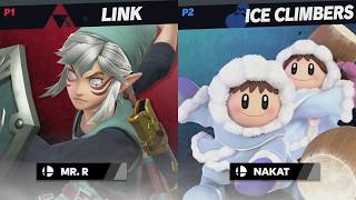 """ICE CLIMBERS [Nakat] vs. LINK [Mr. R] ~ Smash Bros. Ultimate """"Pro Gameplay"""""""