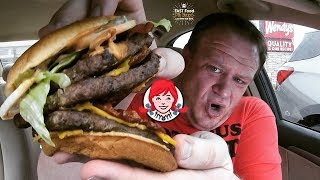 Wendy's NEW! ☆TRIPLE S'Awesome BACON CHEESEBURGER☆ Food Review!!!