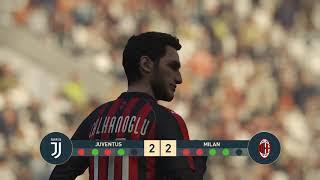 JUVENTUS vs MILAN   Italian Cup   PEnALTY SHOOTOUT   PES 2019