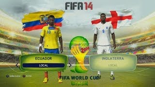 "FIFA 14 ""World Cup"": ""Ecuador vs. Inglaterra"" (PS4) HD"