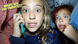 HOME ALONE FOR 24 HOURS!! WILL JAYLA AND AYDAH SURVIVE?!