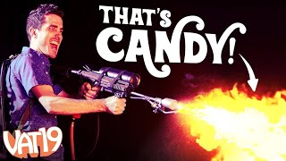 We Built a Candy-Powered Flamethrower!