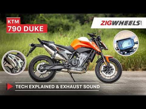KTM 790 Duke Exhaust Sound and Colour TFT Display & Tech Explained