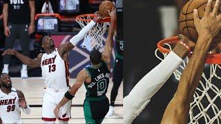 Bam Game Saving Block vs Tatum OT Game 1! 2020 NBA Playoffs Heat vs Celtics