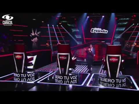 Andrés cantó 'Ahora quien' de Marc Anthony - LVK Colombia- Audiciones a ciegas - T1