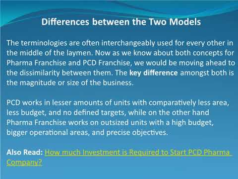 What is the Difference Between PCD and Pharma Franchise?