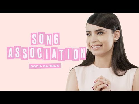 Sofia Carson Sings Ariana Grande, Dua Lipa, and Justin Bieber in a Game of Song Association | ELLE