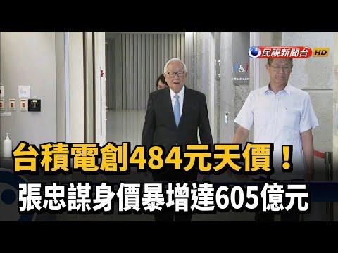台積電創484元天價 張忠謀身價暴增達605億元-民視新聞