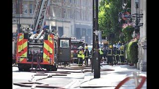 اندلاع حريق ضخم في فندق في وسط لندن     -