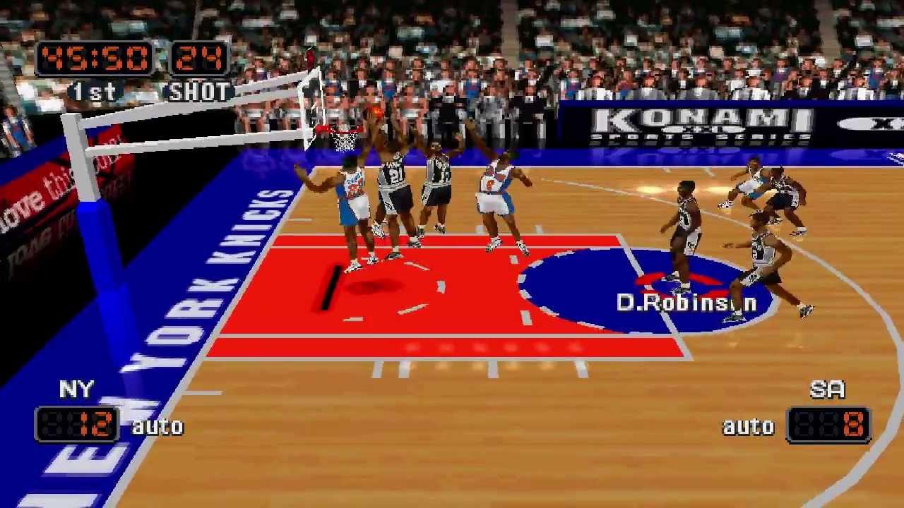 Spurs Vs Knicks Detail: NBA In The Zone '99 Knicks Vs. Spurs [HD]