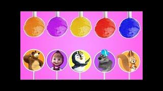 Masha and the Bear Lollipop Finger Family #2