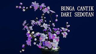 Cara Membuat Bunga dari Sedotan Plastik    Beautiful Flowers from a Straw