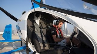 Stan Wawrinka Flies In Dubai Gyrocopter
