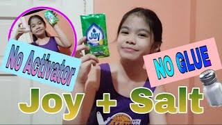 Joy and Salt Slime No Glue | Dish Soap and Salt Slime No Borax | No Glue No Borax