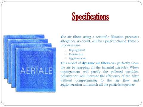 Dynamic Air Filters – Optimal Solution to Purify Air