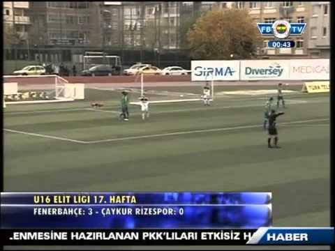 U16 Elit Ligi Fenerbahçe 3-0 Çaykur Rizespor - 2 Aralık 2012