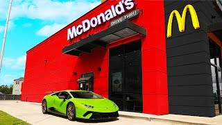 DRIVING MY NEW LAMBORGHINI PERFORMANTE THROUGH MCDONALDS!