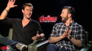 The Funniest Chris Hemsworth & Chris Evans Interview You'll Ever See!