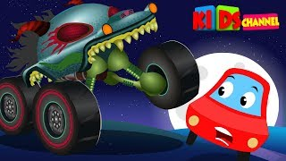 Kids Channel   Little Red Car   HHMT   hungry monster truck   scary songs for kids