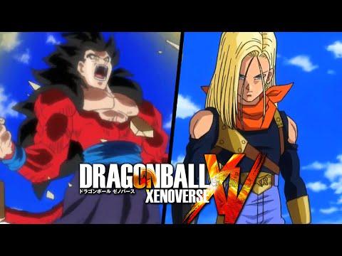 Super Saiyan 4 Gohan Vs New Super Android 17 Gameplay - Dragon Ball Xenoverse