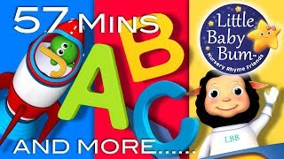 ABC Song In Outer Space | Plus Lots More Nursery Rhymes | 57 Minutes Compilation from LittleBabyBum!