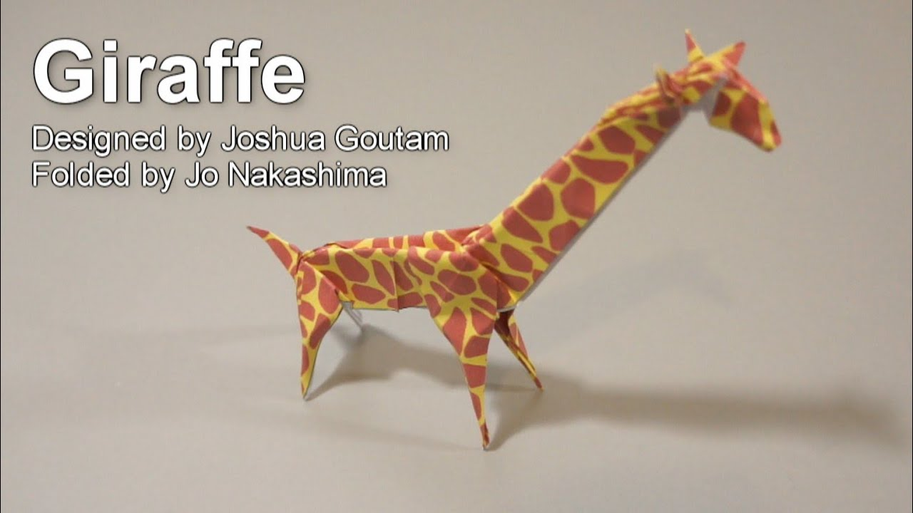 Origami Giraffe (Joshua Goutam) - YouTube - photo#1