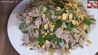 Thịt thăn Heo trộn nước Mắm Chanh Đường - rang Đậu phộng Airfryer by Vanh Khuyen