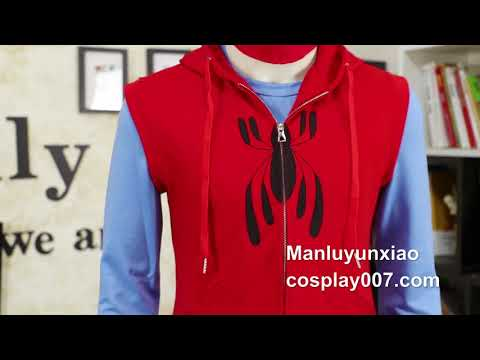 High quality Spiderman Homecoming Peter Cosplay costume detail overview
