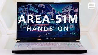 Alienware Area 51m Hands-On: A gaming laptop with an upgradable CPU & GPU at CES 2019