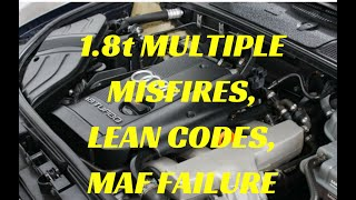 Audi A4 misfiring diagnose  P0304, P0300 and P130A  Fault
