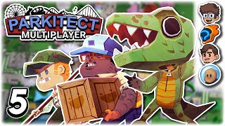 NEW COASTER: ASSURED DEATH!! | Part 5 | Let's Play Parkitect: Multiplayer | ft. The Wholesomeverse