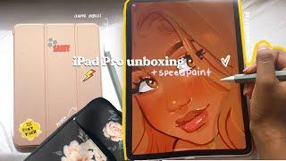" iPad Pro 11"" 2020 unboxing 📦& accessories + speedpaint ☁️🧚🏾♀️🌸✏️"