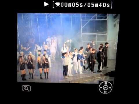 [LQ/Fancam] 141018 Minho Kicked Key's back - SMTOWN Concert in Shanghai Ending