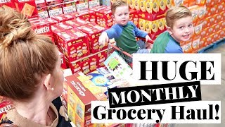 $290 Monthly Grocery Haul on a Budget for a Family of Five! | Costco Haul & Target Grocery Haul