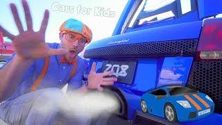 The Blippi Lamborghini Race Car Video | Learn About Vehicles for Kids