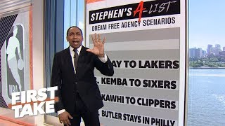 Stephen A.'s dream NBA free agency scenarios | First Take