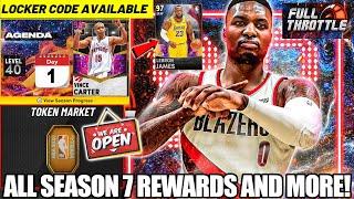 NBA 2K21 SEASON 7 WITH NEW FREE DARK MATTER CARDS, TOKEN MARKET PACKS, NEW LOCKER CODES IN MYTEAM