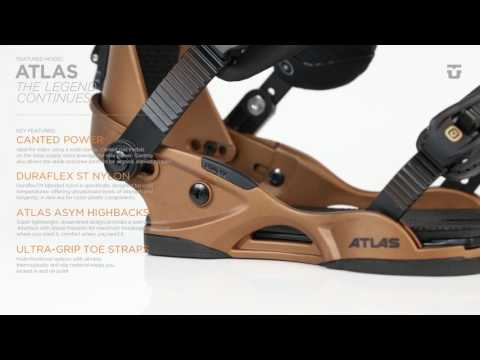 Union Atlas Snowboard Bindings - White