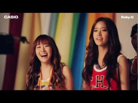 SNSD CF Casio Baby-G Behind the scenes & SeoHyun Tiffany Yoona Jul 11, 2012 GIRLS' GENERATION